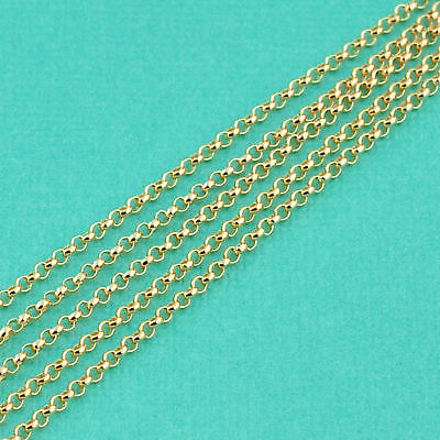 14K Gold Filled Bulk Rolo Chain 1.5mm link