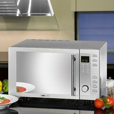 NEU Mikrowelle Grill Edelstahl Microwelle Microwave