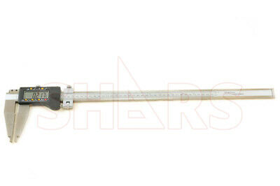 "18"" 450mm INCH METRIC STAINLESS DIGITAL CALIPER .0005"""