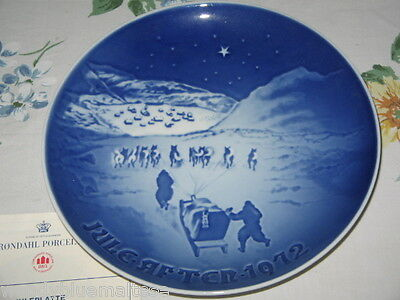 Christmas in Greenland 1972 Bing & Grondahl Plate 18.5cm Wide Booklet Also NEW