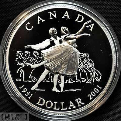 2001 Canada $1 Proof Silver Dollar - National Ballet