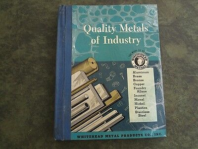 Vintage 1955 Whitehead Metal Products Company Quality Metals Of Industry 1955