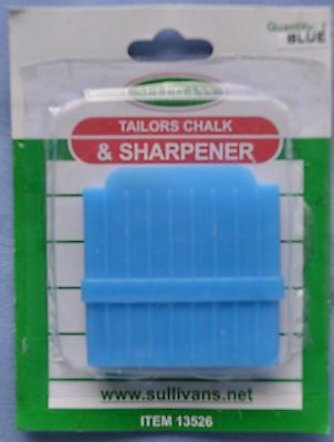 Tailors Blue Chalk and Sharpener