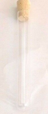 """25 New Glass Test Tube Tubes with cork stoppers 13 x 100mm (1/2 x 4"""")"""