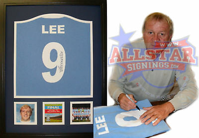Framed Francis Lee Signed Manchester City Football Shirt With Proof & Coa