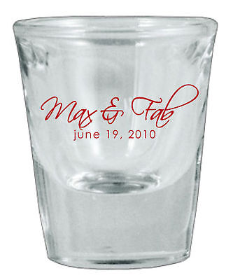 150 Personalized Glass Wedding Favor Shot Glasses NEW