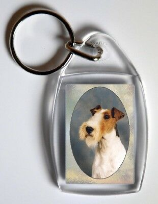 Wire Fox Terrier Key Ring By Starprint  - Auto combined postage
