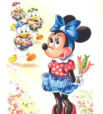 Minnie Mouse Candy For Disney Ducks,foreign Postcard