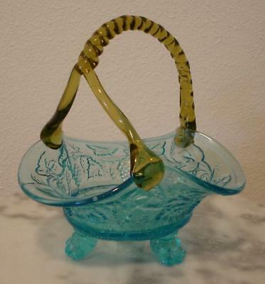"Victorian 7"" tall Art Glass Basket"