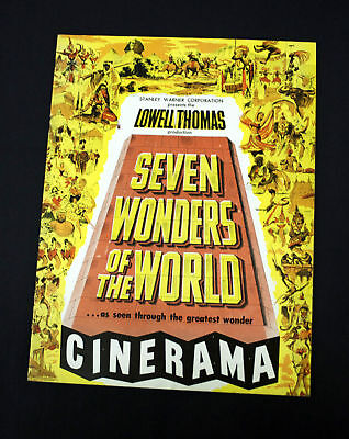 Seven Wonders Of The World Program  Cinerama L. Thomas