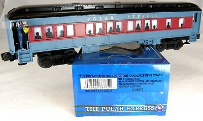 O Scale The Polar Express Coach With Conductor Announcement  - Lionel #6-36875