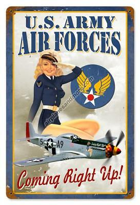"""""""U. S. Army Air Forces Pinup"""" Vintage Metal Sign - Made in the USA"""