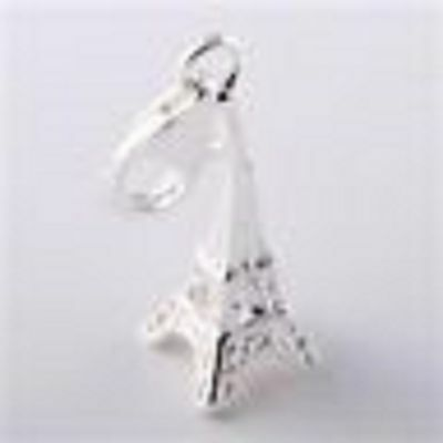 925 Silver Eiffel Tower Clip-On Charm For Bracelets-New