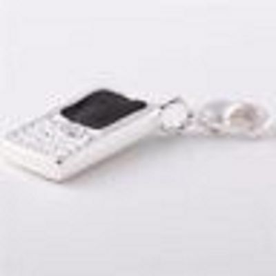 925 Silver Mobile Phone  Clip On Charm  - New