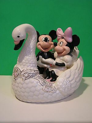 LENOX ROMANCE UNDER THE STARS MICKEY Minnie Mouse Swan NEW in Box w/ COA