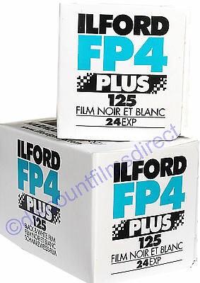 2 x ILFORD FP4 125 35mm 24exp CHEAP BLACK & WHITE  FILM by 1st CLASS POST