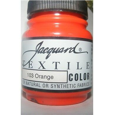 'Orange' ' Natural Or Synthetic Fabric Paint
