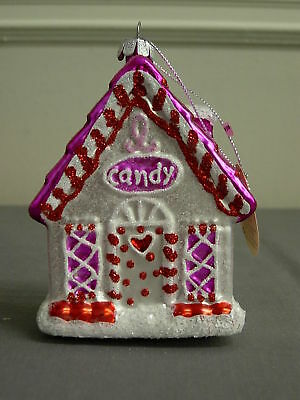 Dept 56 Peppermint Party Candy House Ornament New