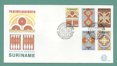 Surinam 1982 Easter set on First Day Cover
