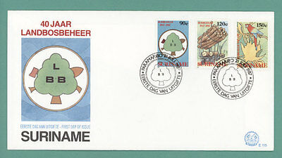 Surinam 1987 Forestry set on First Day Cover