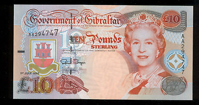 1995 Gibraltar Ten Pounds - Gem Cu