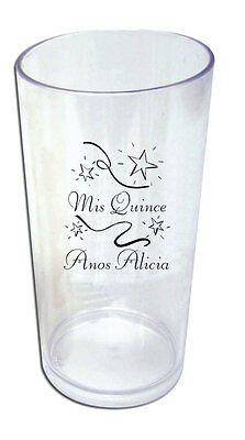 50 - 19oz Custom Tumblers Quinceanera Party Favors NEW