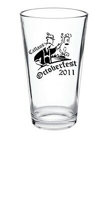 48 - 15oz Personalized Oktoberfest Glass Pub Pint Glasses
