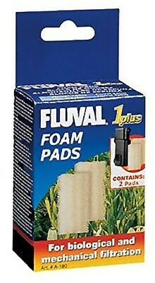Fluval 1+ Plus Foam Pad Pack of 2 Replacement Filter Sponges Genuine