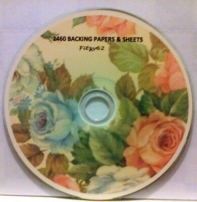 2460 BACKING PAPERS & SHEETS CARD MAKING ART & CRAFT CD Rom