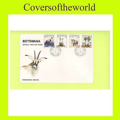 Botswana 1983 Endangered Species set First Day Cover