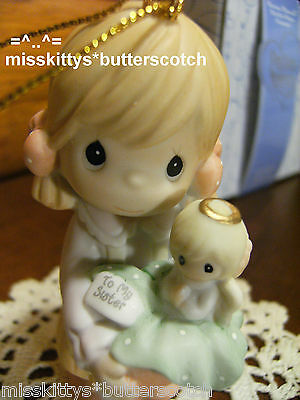 Precious Moments~ORNAMENT~610031~Sister You Are An Angel To Me~Youg Girl w Angel