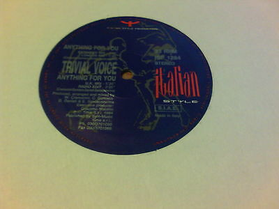 "12"" Mix Italian Style Trivial Voice Anything For You"