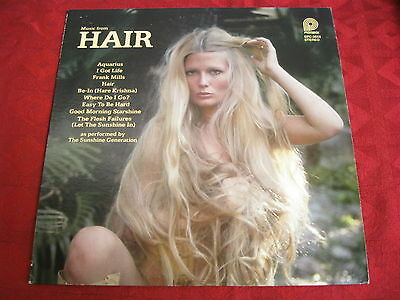 LP THE SUNSHINE GENERATION Music from Hair NUDE COVER