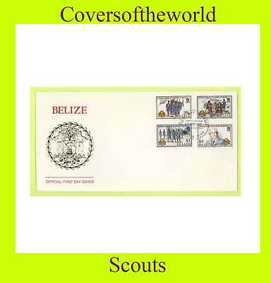 Belize 1987  Girl Guides set on First Day Cover