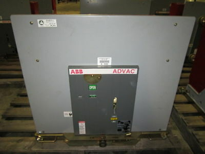 ABB ADVAC 5kV 1200A AA211777000000P Vacuum Breaker 5 cycles 5 KV 1200 Amp
