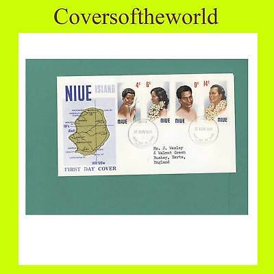 Niue 1971 Headress First Day Cover, addressed