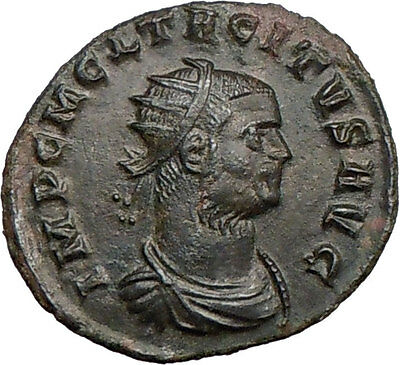 TACITUS 275AD  Authentic Ancient Roman Coin Tacitus get wreath from Victory Rare