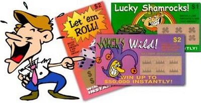 10 fake lottery lotto tickets   + 1 free million bill