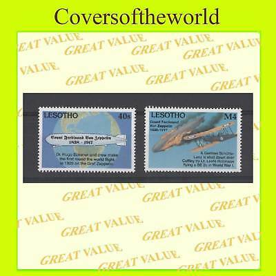 Lesotho 1993, two aircarft stamps, MNH