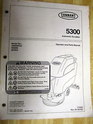 Tennant 5300 Operator And Parts Manual