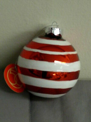 Dept 56 Peppermint Party Pattern Ball Ornament