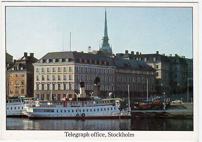 Card Televerket Telegraph Office Stockholm Sweden