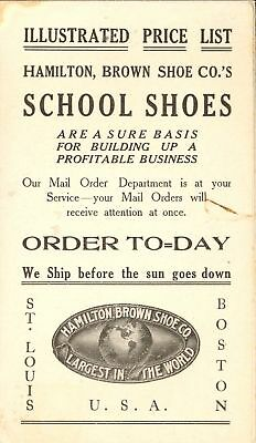 Mail Order School Shoes Vintage Fold Out Price List