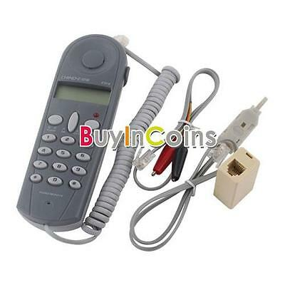 Telephone Phone Butt Test Tester Lineman Tool Cable Set Professional Device