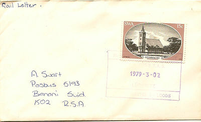 SOUTH WEST AFRICA : 1979 Rail Letter -LUDERITZ