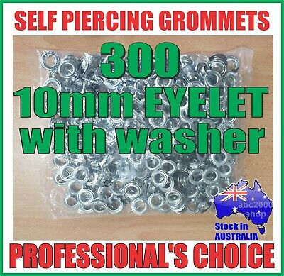 200 GROMMETS PUNCH EYELETS Internal Dia-10mm