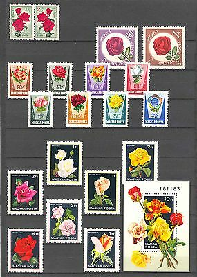 Hungary Flowers / roses stamp collection MNH (**)