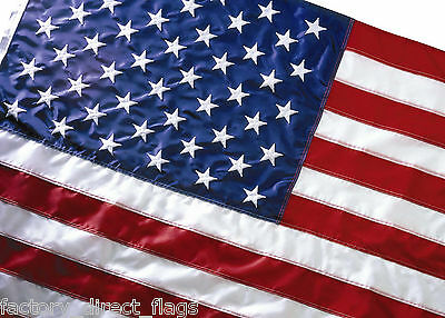 EMBROIDERED US FLAG 3' X 5' AMERICAN FLAG WHOLESALE LOT OF 5