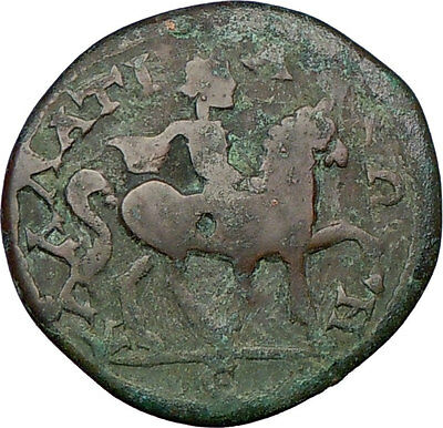 CARACALLA on HORSE Kallatis Thrace  Large RARE Ancient Roman Greek Coin i22424