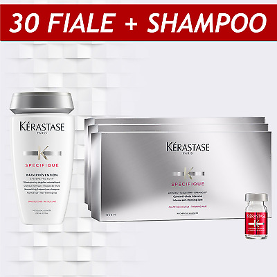 KIT SHAMPOO + 30 FIALE AMINEXIL KERASTASE SPECIFIQUE anticaduta capelli NEW 2017